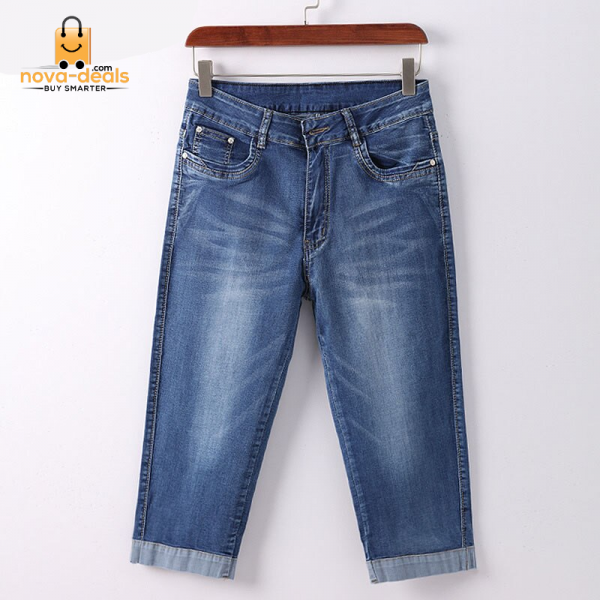 GAREMAY Plus Size Skinny Capris Jeans Woman Female Stretch Knee Length Denim Shorts Pants Women With High Waist Summer 3