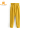 Tangada black suit pants woman high waist pants sashes pockets office ladies pants fashion middle aged pink yellow pants 6A22 3
