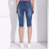 GAREMAY Plus Size Skinny Capris Jeans Woman Female Stretch Knee Length Denim Shorts Pants Women With High Waist Summer 2