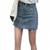 Duanyskiy Women Summer Black Blue Solid Casual High Waist Pencil Denim Skirts High Street Pockets Button All-matched Jeans Skirt 1