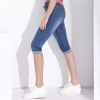 GAREMAY Plus Size Skinny Capris Jeans Woman Female Stretch Knee Length Denim Shorts Pants Women With High Waist Summer 1