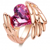 Crystals Ring - 18K Rose Gold Plated