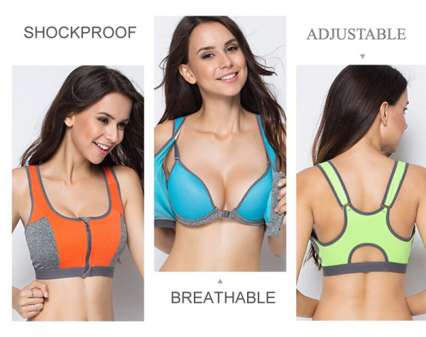 Sports Top with Built-in Bra 1