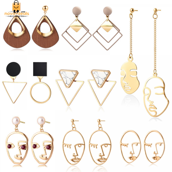 Round and Triangle Earrings - 29 Style 2