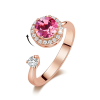 Crystal Fashion Rings - 12 Colors