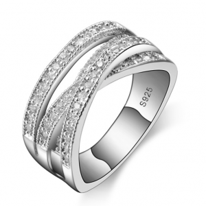 Luxury Silver Ring - White CZ