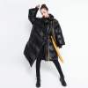 TWOTWINSTYLE Winter Women's Down Jacket Long Sleeve Patchwork Ribbons Irregular Cotton Coats Female 2019 Autumn Plus Thick Warm 3