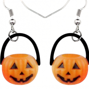 Adorable Pumpkin Earrings 2.5 x 1.9 cm