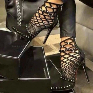 Black Cut Out Boots